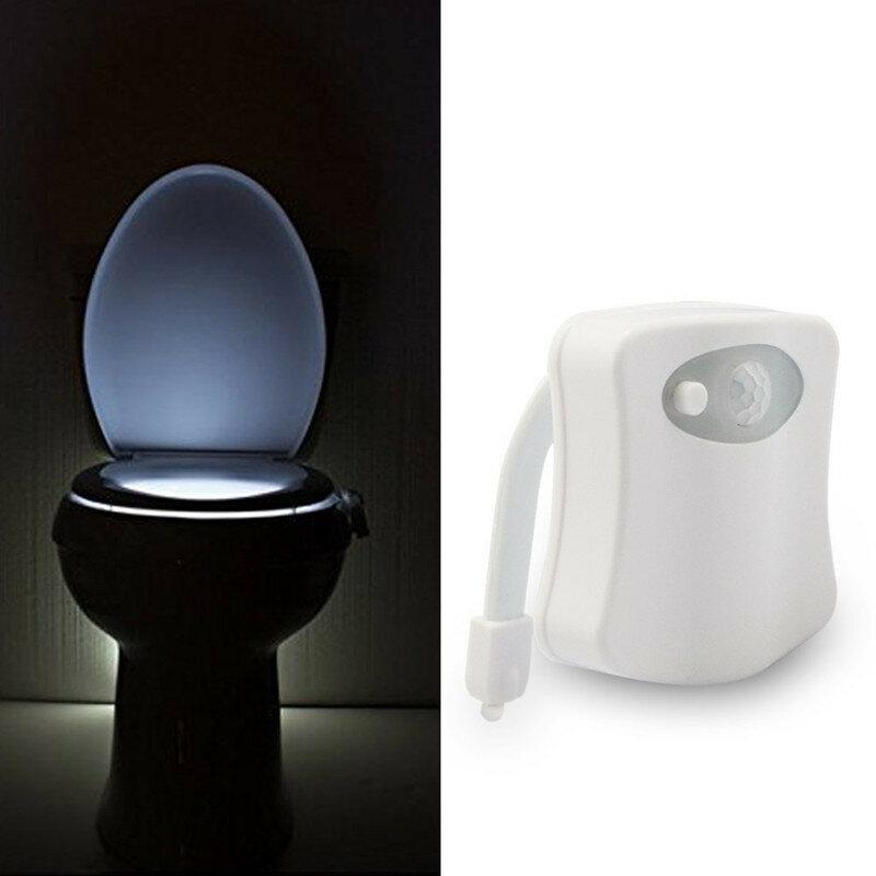 الجسم الاستشعار التلقائي Led محس حركة ليلة مصباح المرحاض السلطانية الحمام ضوء مقاوم للماء الخلفية للضوء دورة المياه