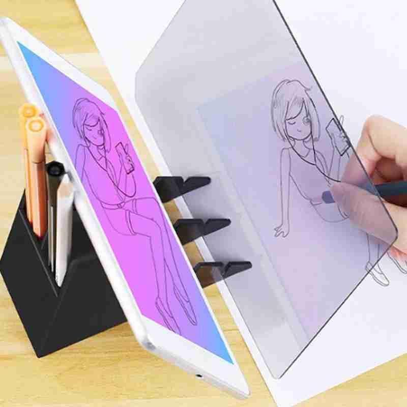 """22.5x15.6 """"البلاستيك رسم تتبع لوحة الرسم البصرية والرسم انعكاس رسم العارض الاطفال أداة للمبتدئين E0L1"""