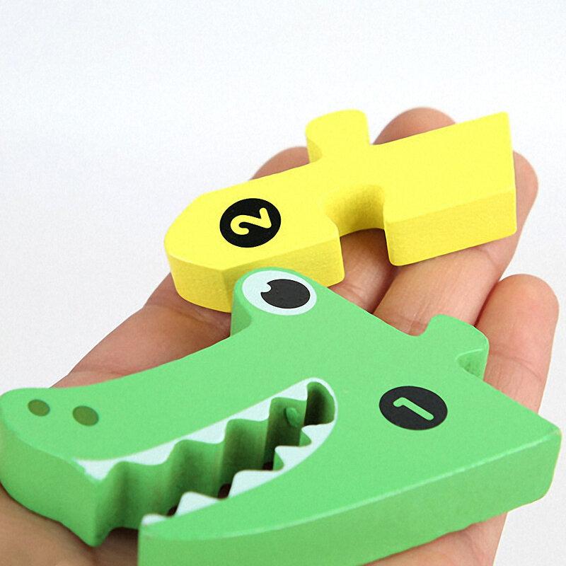 أطفال لعبة خشبية ثلاثية الأبعاد أحجية الصور المقطوعة الحيوان الطفل لغز التعلم ألعاب تعليمية للأطفال التعرف على هدايا مونتيسوري