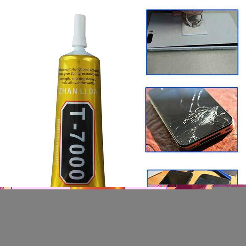15 مللي T7000 إصلاح الهاتف المحمول الغراء الأسود مرونة عالية DIY بها بنفسك الغراء سوبر إبرة نمط شاشة إطار مقاوم للماء Z2L9