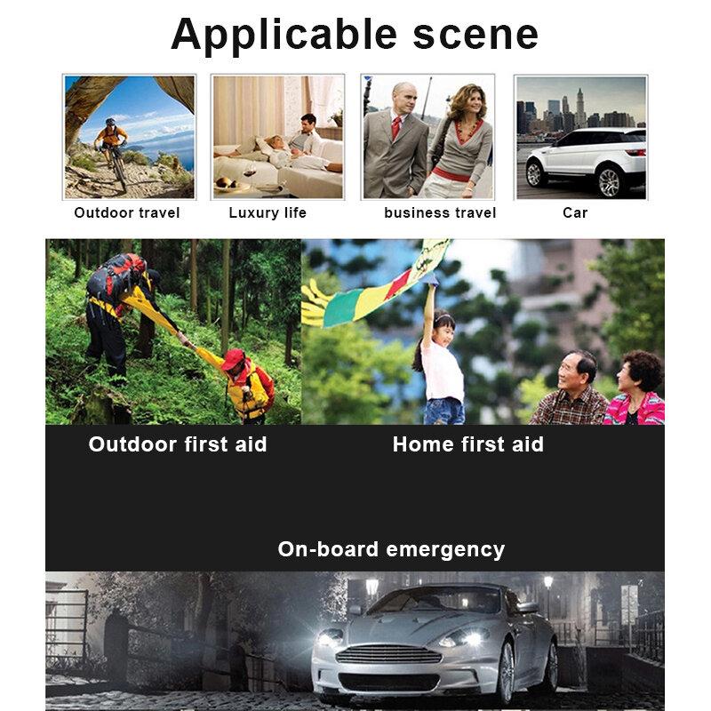 طقم النجاة في حالات الطوارئ ، طقم إسعافات أولية صغير للعائلة ، طقم سفر طبي ، حقيبة خارجية ، طقم إسعافات أولية QJS ، 13 قطعة