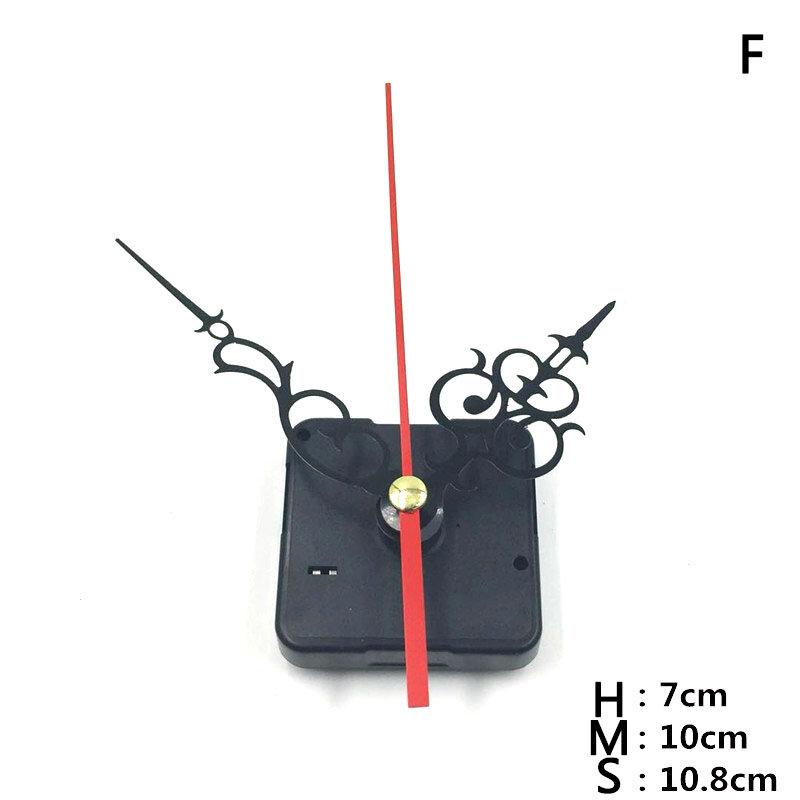 11 أنماط Clocks بها بنفسك الساعات أجزاء كوارتز ساعة حركة آلية إصلاح أجزاء أسود الأيدي استبدال طقم قطع غيار مجموعة
