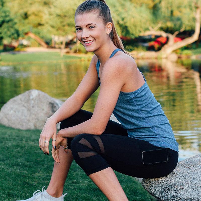موضة المرأة عادية بسط إغلاق المناسب اليوغا الرياضة سراويل رياضية طماق الصيف سروال شكل قلم رصاص الركبة طول بنطلون ممارسة