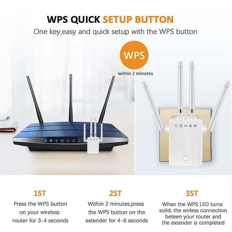 لاسلكي واي فاي مكرر 300Mbps واي فاي المدى موسع 2.4 Ghz واي فاي مكبر للصوت طويلة المدى شبكة لاسلكية واي فاي إشارة الداعم