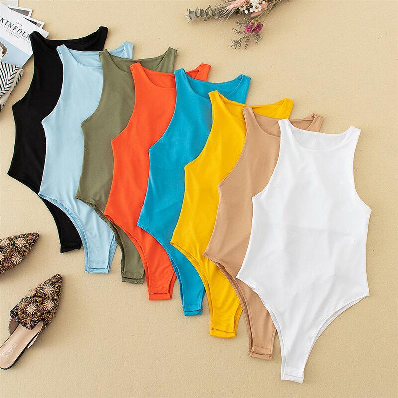 2021 جديد الصيف الخريف البلوز بدلة للجسم المرأة عادية مثير سليم شاطئ بذلة رومبير فتاة ارتداءها الصلبة العلامة التجارية دعوى
