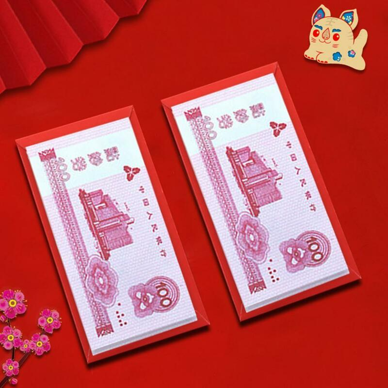 محظوظ حقيبة المال الساخن ختم متعدد الألوان الجميلة النمط الصيني محظوظ حقيبة المال المغلف الأحمر جيب أحمر 6 قطعة/المجموعة