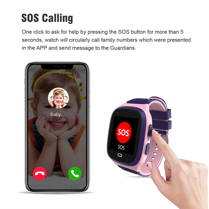 4G الاطفال ساعة ذكية واي فاي لتحديد المواقع AGPS المقتفي SOS HD مكالمة فيديو تعمل باللمس IP67 مقاوم للماء لصبي فتاة هدية الاطفال Smartwatch LT31