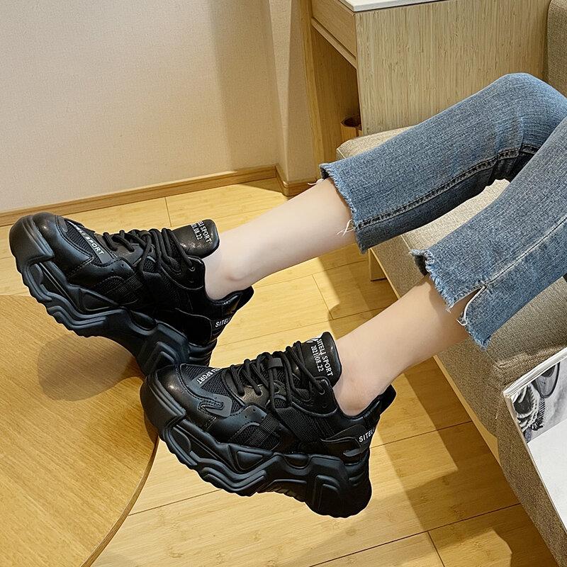 جديد أحذية رياضية النساء أحذية موضة سميكة القاع عادية تنفس منصة أحذية رياضية النساء السيدات أحذية مفلكنة Zapatillas Mujer