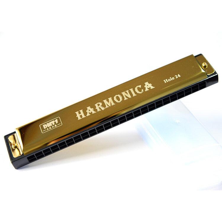 للمبتدئين 24 ثقوب هارمونيكا الفم الجهاز المعدني للأطفال الأطفال آلة موسيقية هارمونيكا