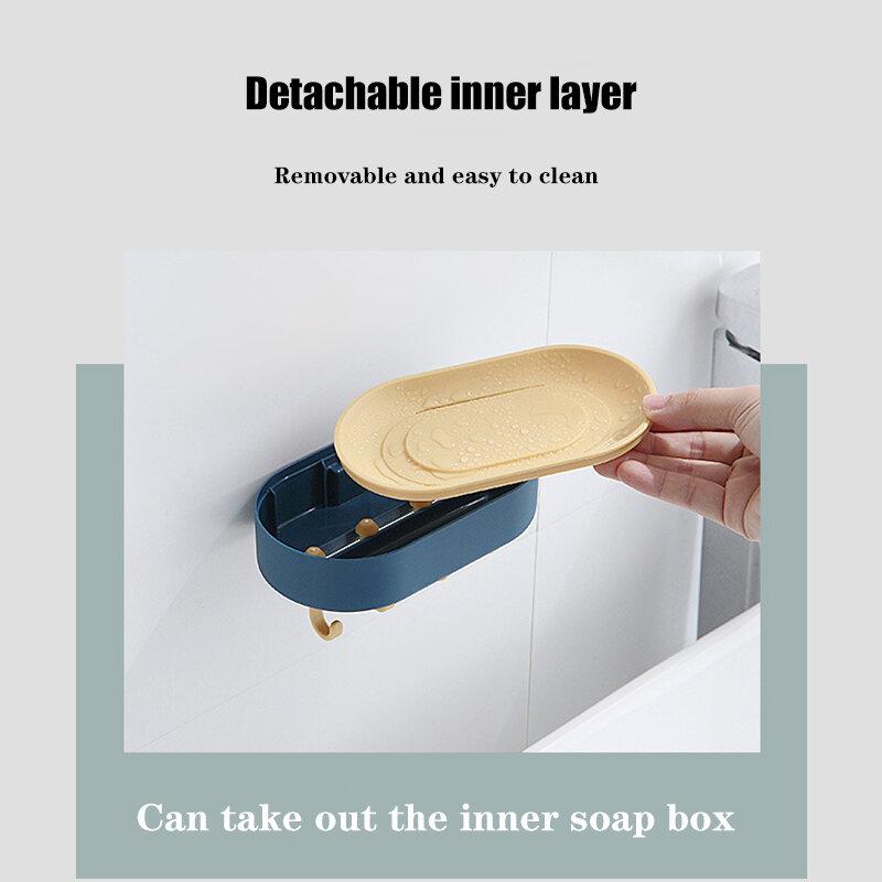 استنزاف الصابون صندوق متعدد الوظائف لكمة خالية جدار معلق تخزين الرف حامل للإزالة للحمام المطبخ بيع