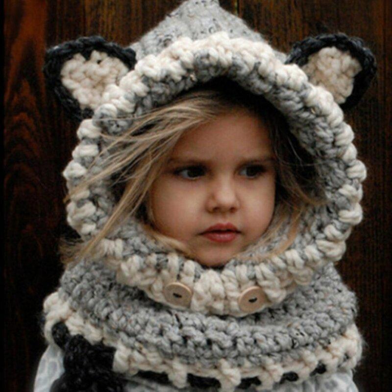 قبعة من الصوف الصلب للأطفال والنساء ، قبعة دافئة ، آذان الثعلب ، كاجوال ، قطيفة ، وشاح ، قفازات ، مجموعة شتاء 2020