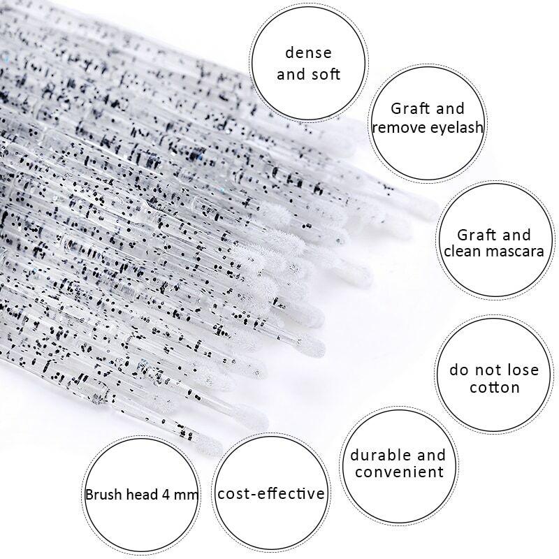 100 قطعة/الحقيبة المتاح MicroBrush الرموش تمديد الرموش الفردية إزالة المسحة مايكرو فرشاة ل رمش تمديد أدوات