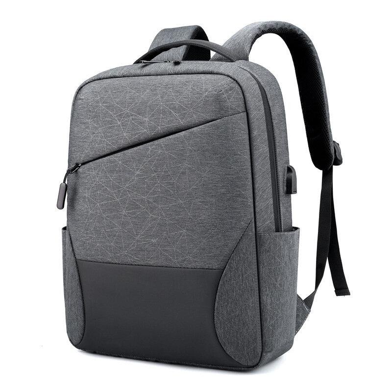 مكافحة سرقة 15.6 بوصة محمول على ظهره الرجال الموضة بولي TPU مقاوم للماء حقيبة السفر الذكور حقيبة المدرسة للرجال حقائب الأمتعة
