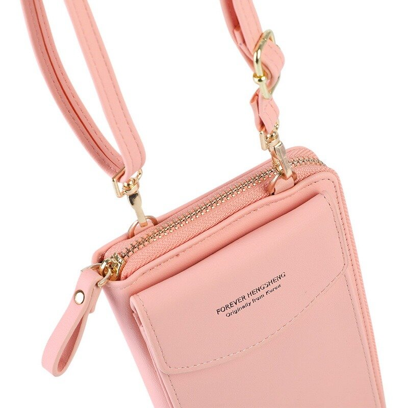 حار بيع أكياس الهاتف المحمول مع فتح المعادن حقائب كروسبودي النساء حقيبة كتف جلدية صغيرة بو حقيبة ساعي للفتيات هدية 2021
