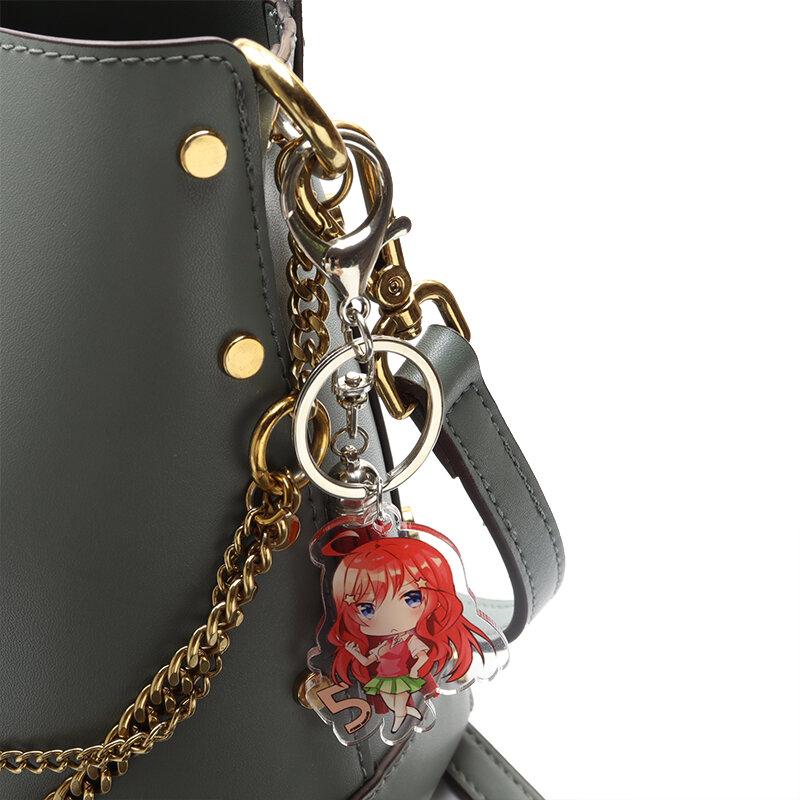 أنيمي الخماسي الخماسي الاكريليك قلادة حامل سلسلة مفاتيح الكرتون الشكل شرابة أقراط للمجوهرات مجموعة حقيبة
