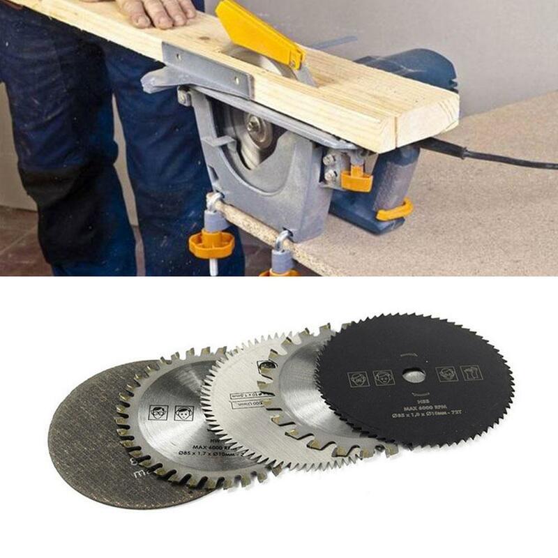 5 قطعة/المجموعة 85 مللي متر قطع أدوات الخشب مناشير ل متعددة وظيفة الطاقة التعميم أداة 10 مللي متر تتحمل الخشب القرص شفرة قاطعة المنشار N4N7