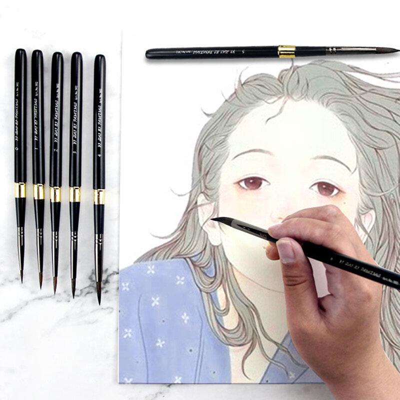 1 قطعة فرشاة ألوان مائية مدببة السنجاب الشعر الفن الطلاء الطلاء فرشاة لوازم