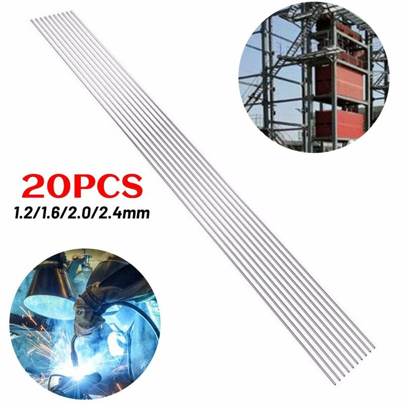 1.2/1.6/2.0/2.4 مللي متر لحام قضبان 1.2 مللي متر ~ 2.4 مللي متر 2.4 مللي متر 2.0 مللي متر 1.6 مللي متر 1.2 مللي متر 20 قطعة