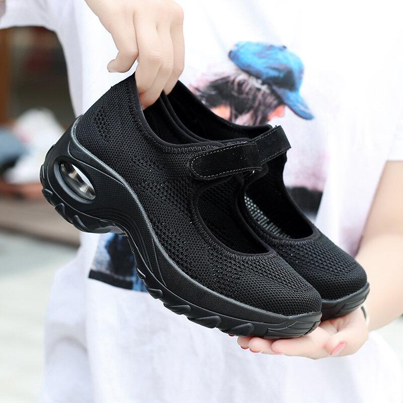 وسادة هوائية حذاء مسطح النساء شبكة أحذية رياضية تنفس 2021 الإناث أحذية مفلكنة زيادة جديد السيدات حذاء كاجوال Zapatos Mujer