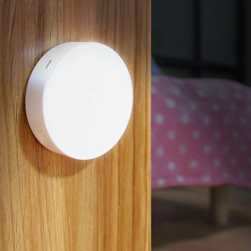 2020 مصباح ليلي جديد مع محس حركة أضواء ليلية دافئة/بيضاء للمنزل كإضاءة ليلية للأطفال للمطبخ/الخزانة/خزانة ملابس
