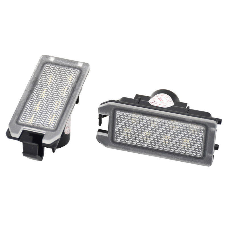 ل جيب جراند شيروكي البوصلة باتريوت ل مازيراتي ليفانتي ل فيات 500 ل دودج فايبر الأبيض LED رقم الترخيص لوحة ضوء