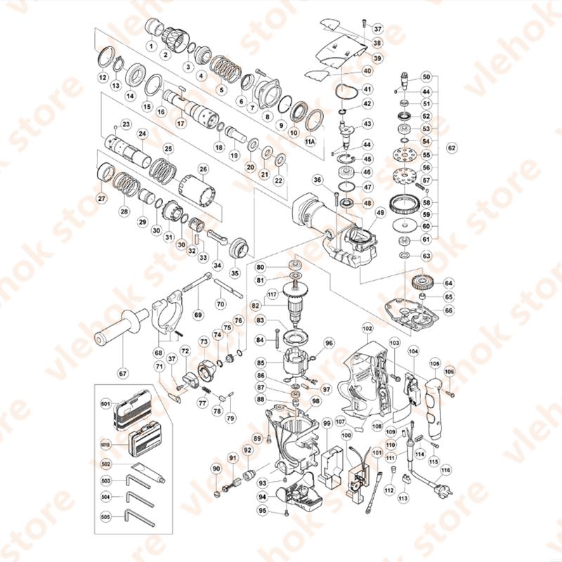 التجنيب كم لشركة هيتاشي DH40MR DH40MRY 321286 أداة السلطة الملحقات أدوات كهربائية جزء