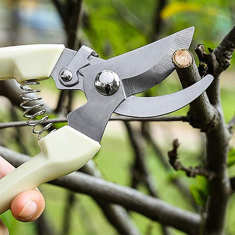 حديقة المقلم الفولاذ المقاوم للصدأ مقص من الفولاذ الموفرة للعمالة الربيع مقص تقليم الأشجار أدوات الحدائق