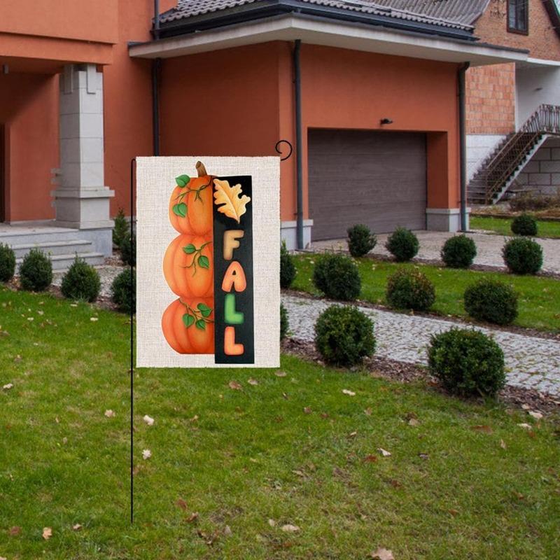 80% حديقة العلم HOTWear مقاومة المحمولة الكتان ديكور هالوين رائعة على الوجهين راية للمهرجان