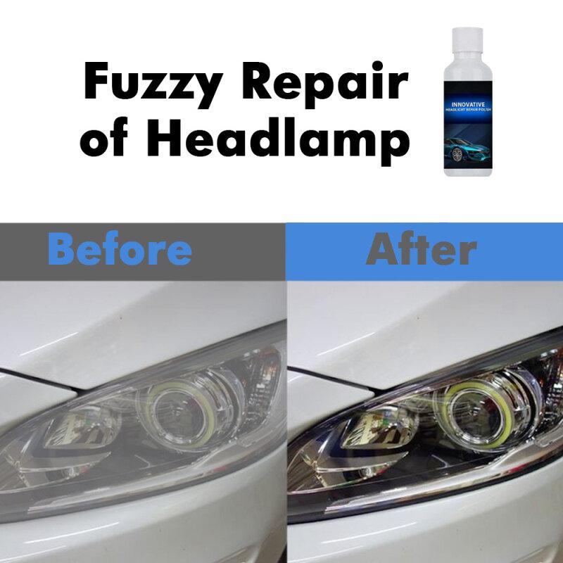 20 مللي سيارة العلوي إصلاح السائل العلوي تلميع خدش إزالة تجديد مصباح السيارة الأمامي طلاء الأكسدة إصلاح TSLM1