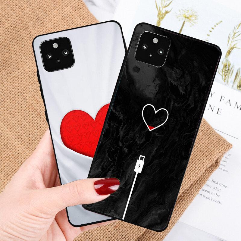 الحب الملاكمة قلوب جراب هاتف لجوجل بكسل 5A 5 4A 4 XL 5G غطاء شل Coque شل Coque