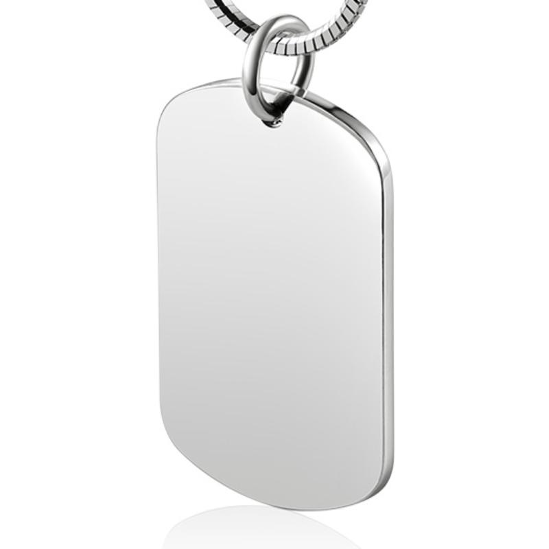 لتقوم بها بنفسك 999 الاسترليني قلادة فضية معرف العلامة قلادة للرجال النساء التخصيص الحصري النقش بالليزر مجوهرات عصرية بسيطة