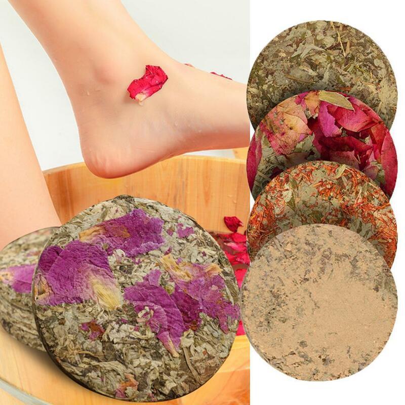 1 قطعة مدلك علاج القدم حمام مسحوق الشيح الزنجبيل العشبية قدم الاستحمام تمرغ الرعاية إزالة السموم القدم مكافحة وذمة E9V0
