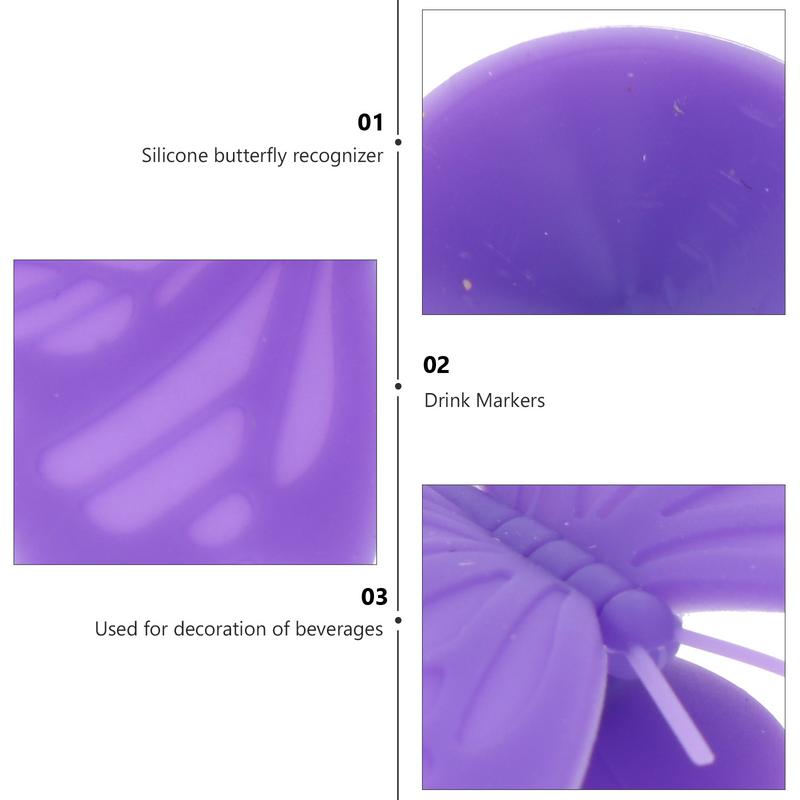 12 قطعة زجاج السيليكون الزخرفية علامات الزجاج العلامات الزجاج