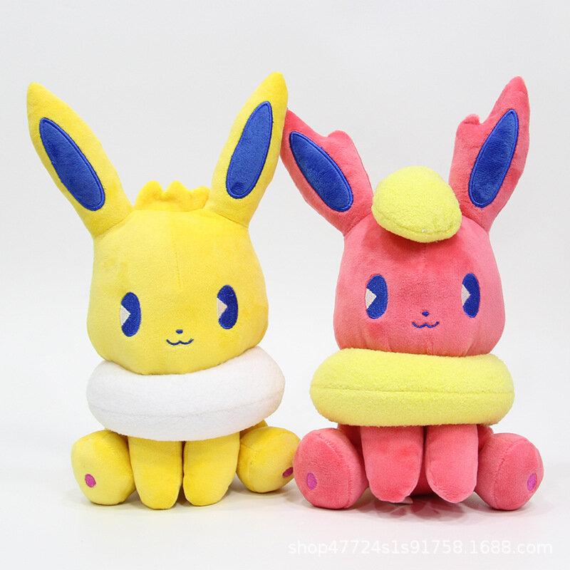 بوكيمون Eevee سلسلة 20 سنتيمتر الكرتون ألعاب من القطيفة انمي ياباني الشكل سطح المكتب الحلي بوكيمون ألعاب من القطيفة فتاة الطفل هدية