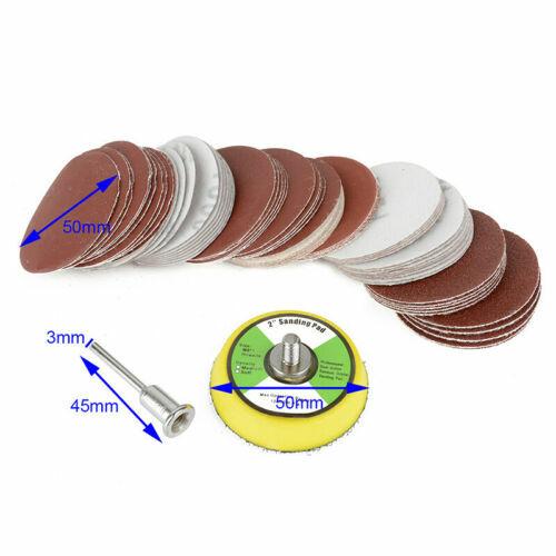 مجموعة الرملي أوراق 60 قطعة ألواح التلميع الصنفرة أقراص 1 قطعة 50 مللي متر الرملي ساندر دعم سادة 1 قطعة مغزل