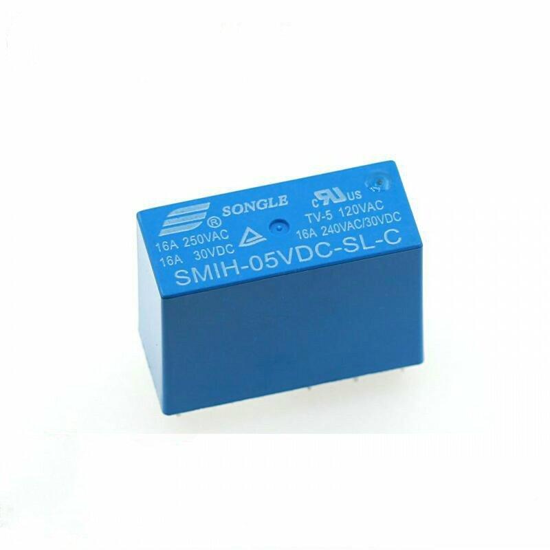 10 قطعة/الوحدة السلطة التبديلات SMIH-05VDC-SL-C 5 فولت 16A 8PIN مجموعة من التحويلات التتابع الأصلي