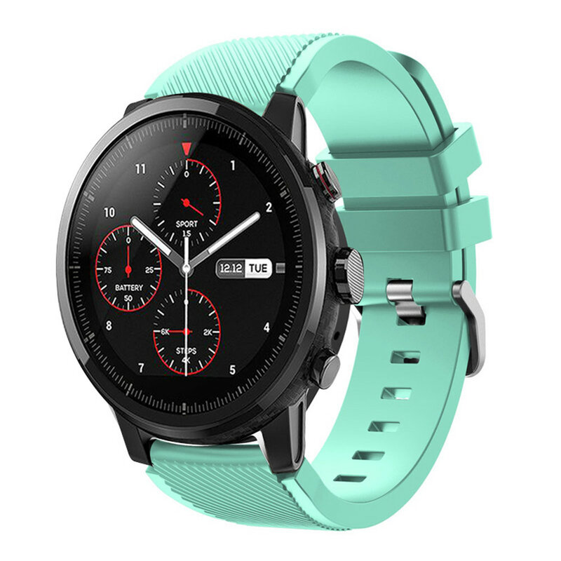 سوار سيليكون لساعة Samsung Galaxy ، سوار 22 مللي متر لساعة Samsung Galaxy Watch 46 مللي متر/Gear S3 Frontier/Huawei Watch GT GT2 46 مللي متر Huami Amazfit GTR 47 مللي متر correa strap