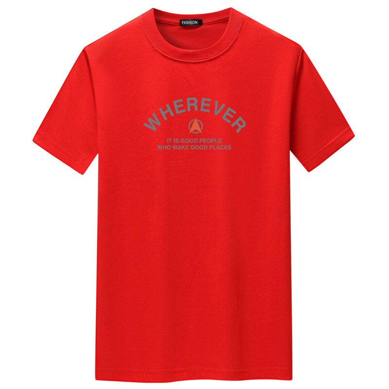 Jfunction y قمصان قصيرة الأكمام حجم كبير الرجال الشارع الشهير التي شيرت إلكتروني طباعة Harajuku بلايز ملابس رجالي عادية رجل تي شيرت