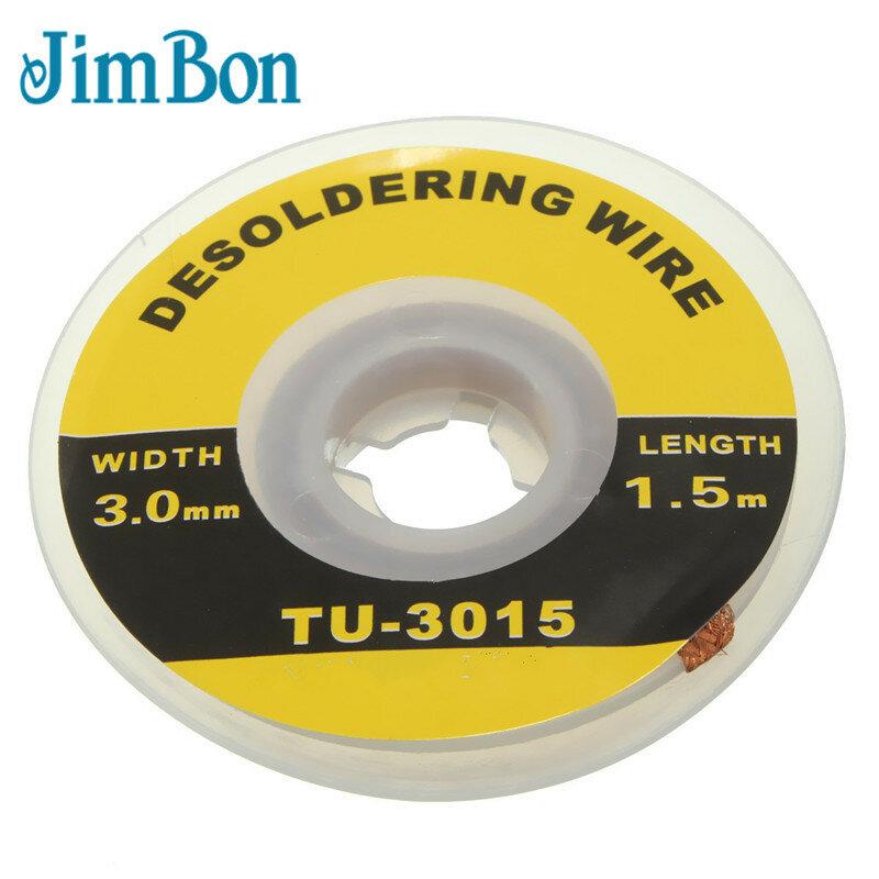 JimBon 1 pc 3mm الأمن 5 ft. 3mm Desoldering ل الجديل اللحيم المزيل ويك بغا Desoldering ل سلك البرازيلي عالميا
