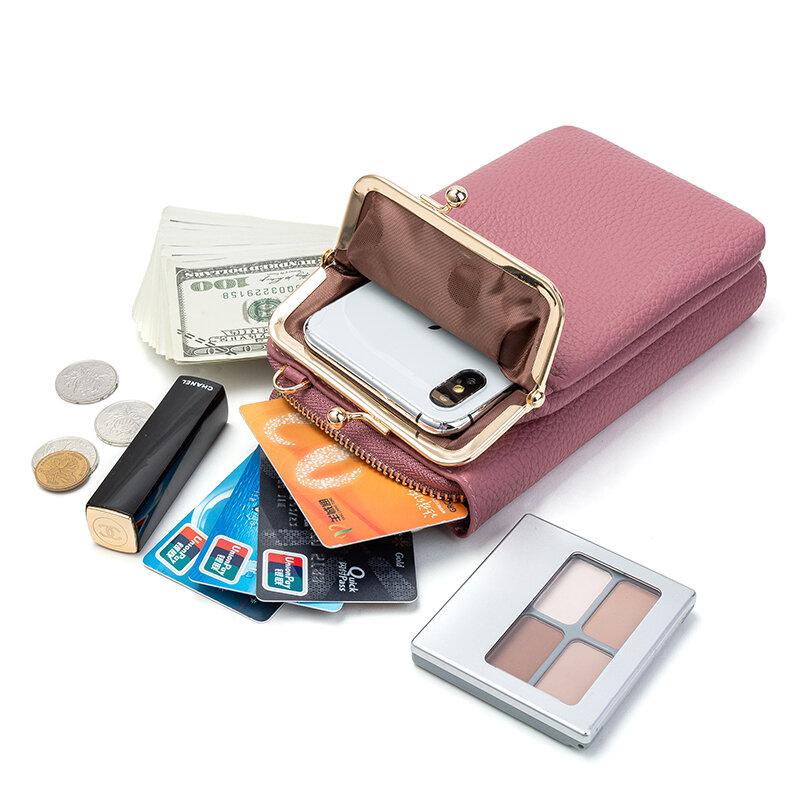 2021 الربيع والخريف جديد بلون حقيبة كتف صغيرة متعددة الوظائف إلكتروني الهاتف المال المرأة المحفظة مخلب المنظم Storag