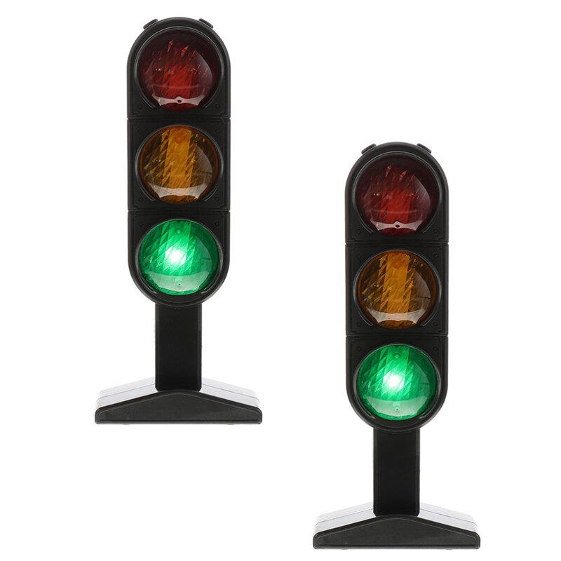 2 قطعة الاطفال مضحك محاكاة نموذج إشارة المرور تعليم السلامة على الطرق