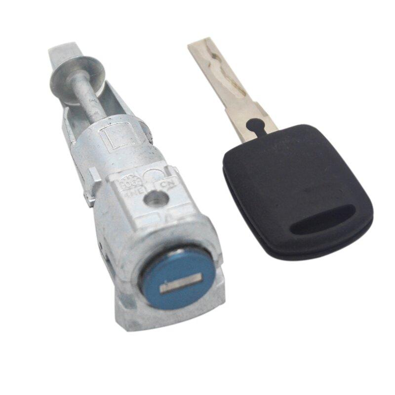 قفل باب السيارة للسائق الأيسر مفتاح تشغيل الباب قفل الإشعال لسكودا اوكتافيا 2005-2008 1Z0837167C 6Y0898167E