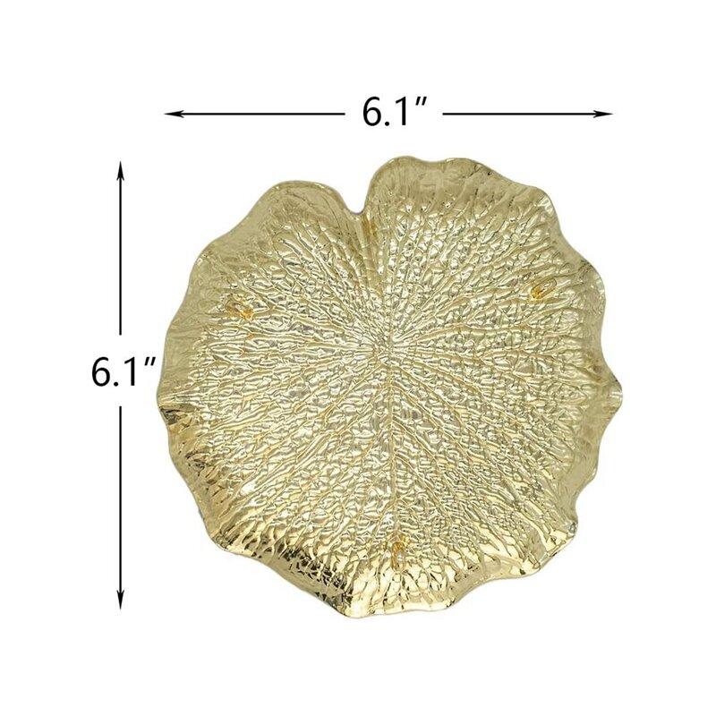 لوحة المجوهرات المعدنية ، حامل حلقة على شكل ورقة ، رف تخزين المجوهرات ، طاولة خلع الملابس