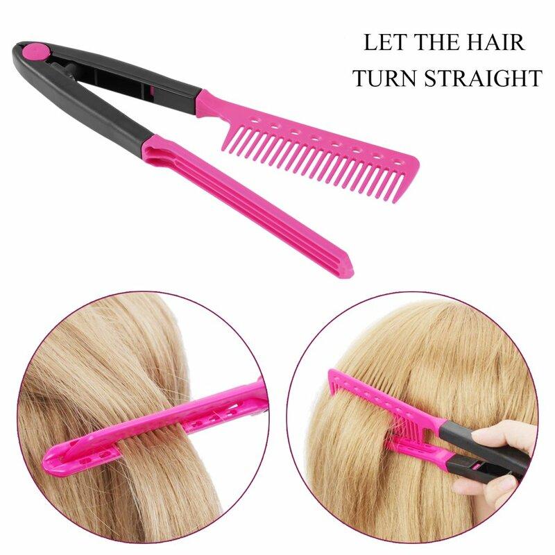موضة V نوع الشعر مشط مكواة فرد الشعر أمشاط لتقوم بها بنفسك صالون حلاقة تصفيف الشعر تصفيف أداة الحلاق مكافحة ساكنة أمشاط فرشاة