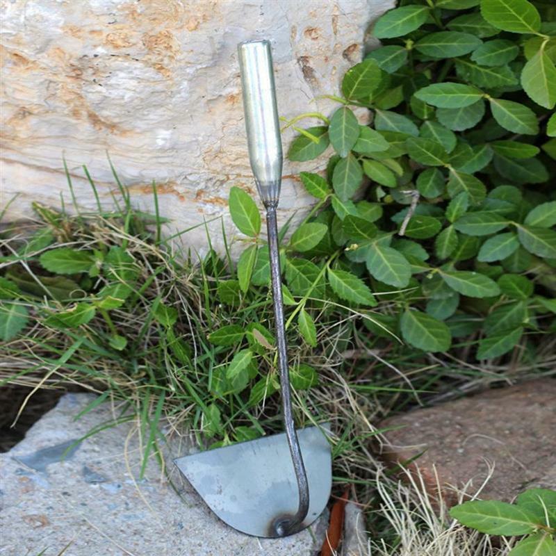 الصلب تصلب نصف دائري مجرفة يده الأعشاب الضارة أشعل النار زراعة الخضار مزرعة حديقة أدوات الزراعة أداة إزالة الأعشاب الضارة الملحقات