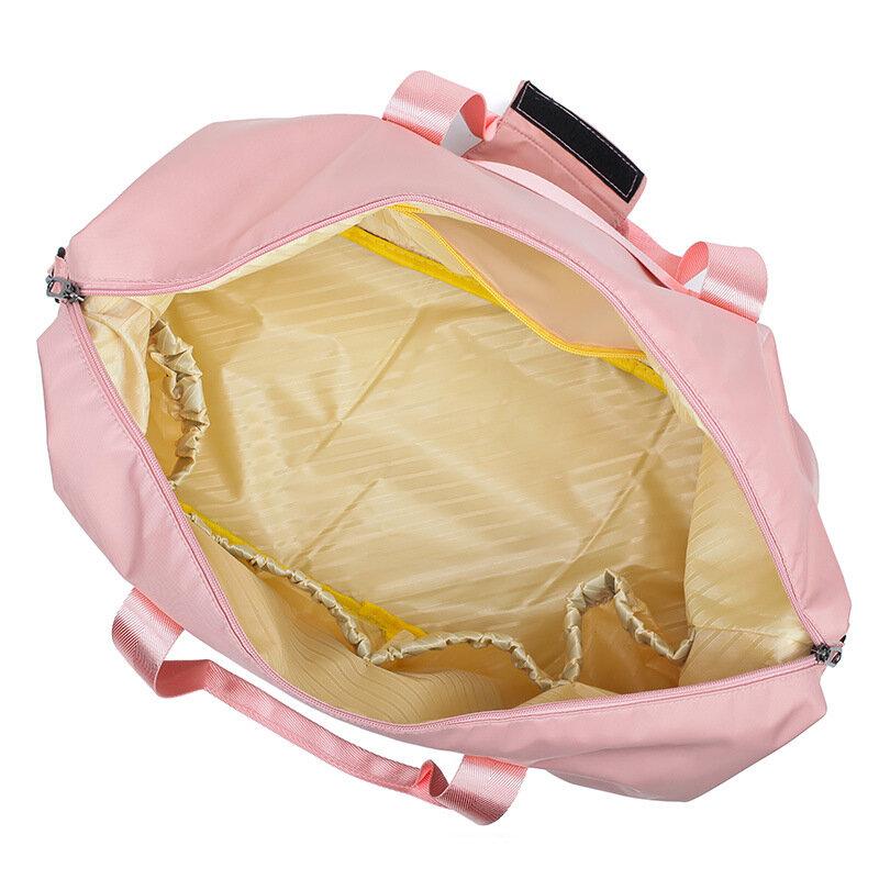 حقيبة سفر نايلون مقاومة للماء للنساء ، حقيبة سفر ، حقيبة رياضية ، مناسبة لليوجا والسباحة ، جافة ورطبة ، 2019