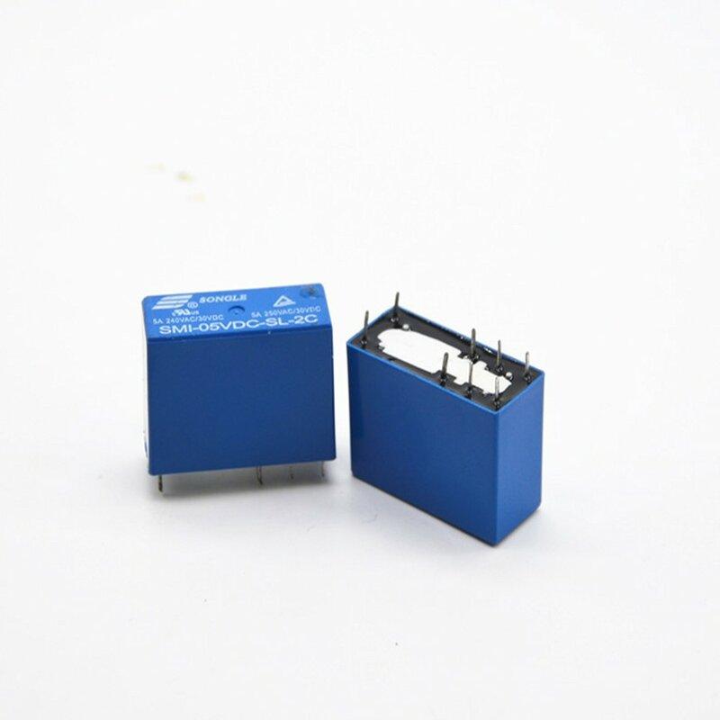 10 قطعة SMI-05VDC-SL-2C 8pin 5A 250VAC/30VDC 5VDC السلطة التقوية جديد الاصل
