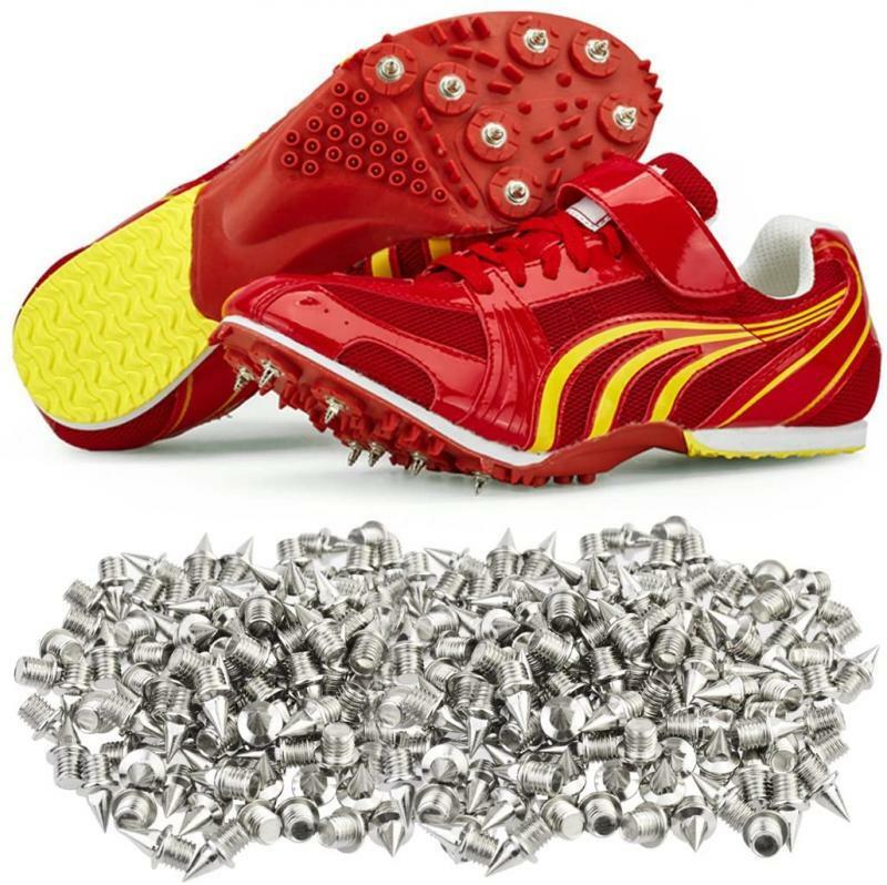 110 قطعة المسامير حذاء الفولاذ المقاوم للصدأ المسامير ترصيع استبدال للرياضة تشغيل المسار أحذية المدربين المسمار الظهر 1/4in 6.35 مللي متر