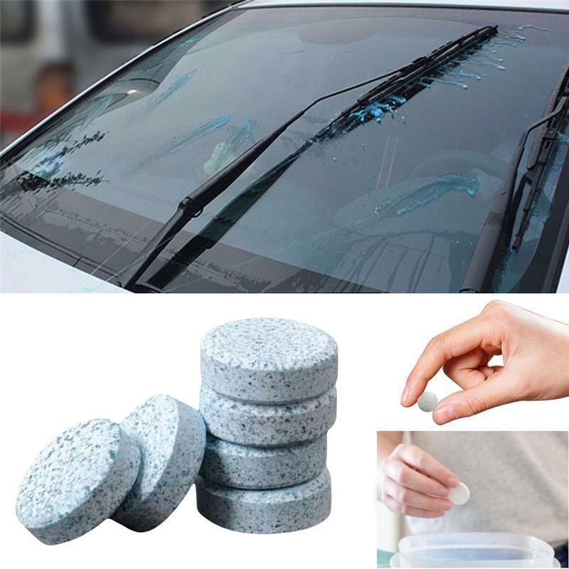 10 قطعة أقراص فوارة متعددة الوظائف نظافة السيارات السيارات الزجاج نظافة
