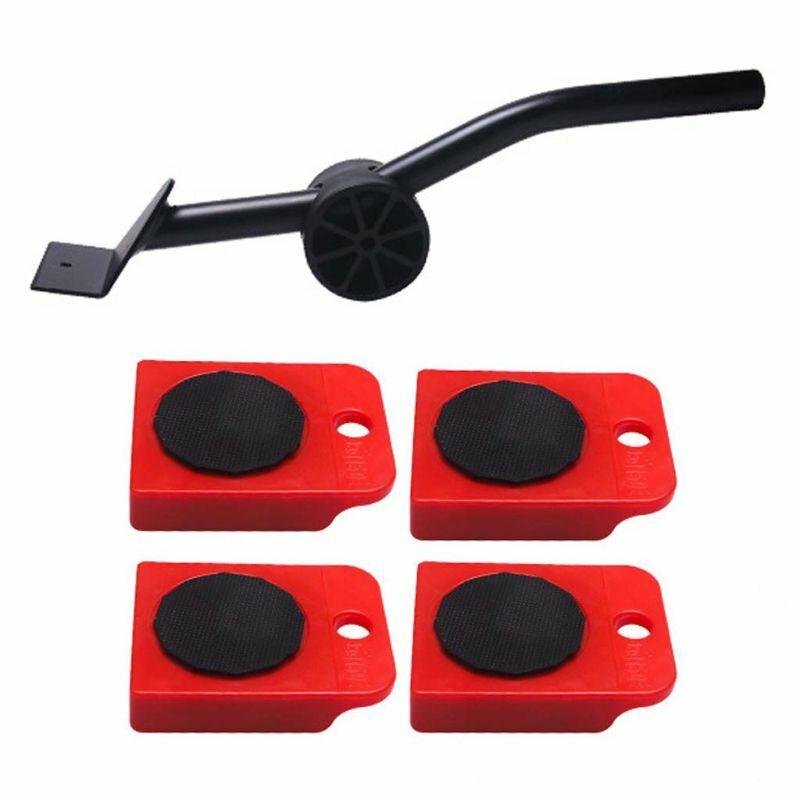 5 قطعة الأثاث رافع المنزلق عدة المواد الثقيلة المحرك أداة بعجلات الأسطوانة عجلة بار جهاز ماكس لمدة 150 كجم